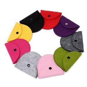 Çocuklar Coin Çantalar keçe Düz Şeker Renk Bebek Çocuk Çocuklar için Kay Durumda Cüzdan Mini Cep Kadın HHA697