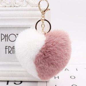 12pcs / серия Baby Shower партии сувениры для гостей Giveaway Прекрасный Двухцветный Сердце Брелки Персонализированные Подарок Свадебный сувенир