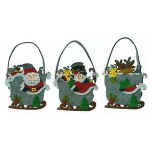 Neue Muster-Weihnachtsweihnachtsmann-Geschenk-Tasche Schneemann-Elk-Handschlittenform nach Hause und Party-Dekoration 5 5zh H1