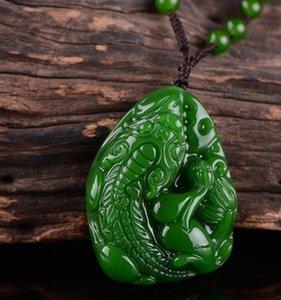 Xinjiang Hetian Jade jadéite Pendentif Pendentif jadéite des hommes et des femmes Pendentif Marque Poignée Piece
