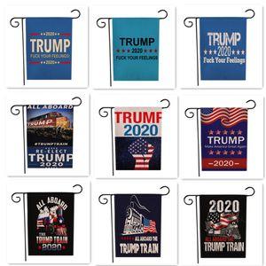 Donald Trump 2020 Garden Flag 47 * Lettera 32CM Stampa Bandiere USA americano stella striped Bandiere Presidente elezioni generali Banner LJJA3490-22