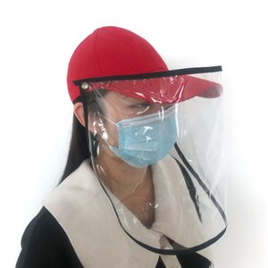 Boné de beisebol removível de protecção Cap Anti-bacteriana Isolamento Aeolian Areia Poeira Hat Anti-epidemia respingo Spit Baseball Cap EEA1308-6