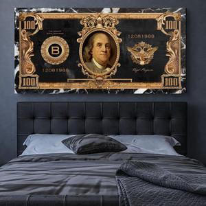 Argent riches Affiches et copies de toile HD Wall Art Room Decor Canvas Wall Photos pour le salon Décoration maison