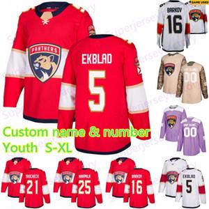 Youth 5 Aaron Ekblad Florida Panthers Jersey 1 Luongo 72 Sergei Bobrovsky 11 Huberdeau 16 Aleksander Barkov 68 Mike Hoffman Hockey بالقميص
