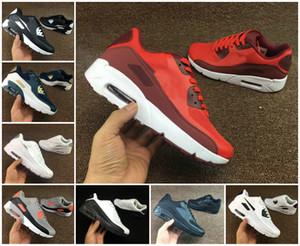 2020 Chaussures Air Cushion 90 HYP PRM MENS Jordan Chaussures Noir Blanc Rouge 90 L'INDÉPENDANCE Sneakers Air90 Zapatillas Chaussures de sport