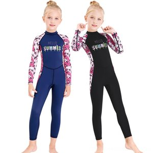 New OnePiece Long Sleeve Wetsuit Child Baby Beach equipment Water Sports Sunscreen QuickDrying Clothes New OnePiece Swimsuit Long Sleeve Wet