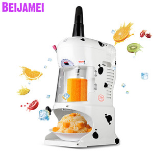 BEIJAMEI New Snow Cone Snow Shaver Planer Machine Maker Blocco elettrico Ice Crusher Snowflake Shaved Ice Machine