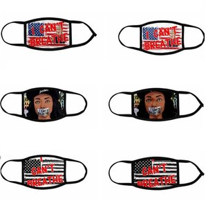 New Word I can't breathe mask American Free mask Protective Masks ice silk breathable digital print design mask 6080