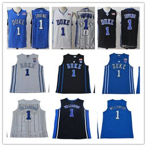 Duke Mens Diables bleus Kyrie Irving College Basketball Jersey Zion Williamson pas cher bleu Kyrie Irving Cousu NCAA de basket-ball Chemises-2XL