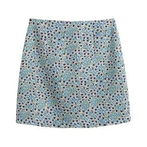 AGONG Casual Une ligne Jupes Femmes Mode Slim imprimé floral Jupe femme élégante Zipper Mini jupes Femme Mesdames CV