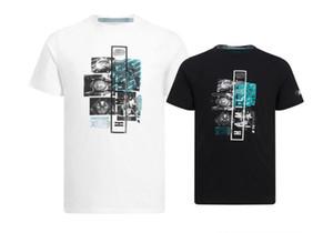 F1 Formula One Sports Curto -Sleeved T -shirt 2019 Off -Estrada Corrida de Velocidade rendição Sports em torno do pescoço