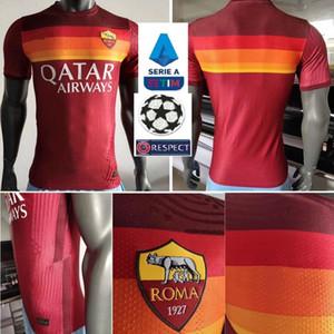 Player versione DZEKO PEROTTI PASTORE Zaniolo calcio maglia Roma 2020 2021 TOTTI maglie kit maglia 20 21 calcio come maillot de Roma piede
