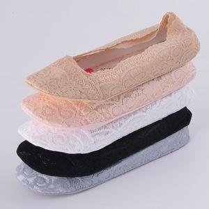 Dentelle Femmes Liner Chaussettes No Show Peds Ballet Bateau Plaine Footies Chaussettes