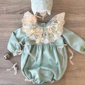 Cross-Border Espanhol Childrens Clothing Ins Roupas de bebê 2020 primavera e no verão onesies do bebê Conjuntos de mangas compridas Romper