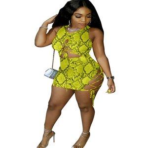 Snake Print Dress Women Birthday Festival Clothes Vestidos Bodycon Short Mini Bandage Dresses Fashion Club Dress