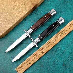 BM alta qualidade 9 polegadas faca de madeira cobra grão estilo italiano dobrar EDC bolso duplo ação MT automática faca tático Auto faca de sobrevivência