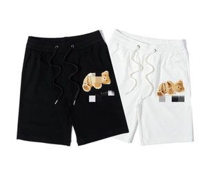 European and American tide brand PALM broken head bear three-dimensional towel embroidered shorts terry guard pants five points beach pants