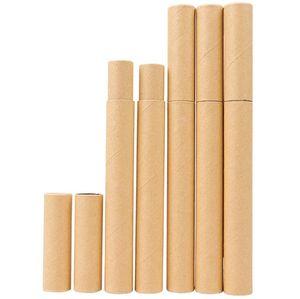 Negro Papel Kraft Incienso Incienso Tubo Box barril pequeño de almacenamiento para lápiz palillo de Joss llevar conveniente SN3131 20.7x2.1cm