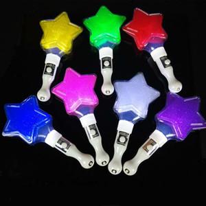 LED Coração Do Amor Estrela Forma Piscando Paleta Glow Sticks Concerto Torcendo Adereços de Presente de Aniversário Dos Miúdos Do Partido Wand