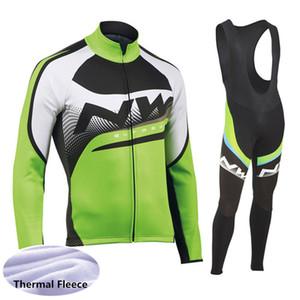 New NW NORTHWAVE homens vestuário moto inverno manga comprida térmica fleece cycling jersey bib calças conjunto de alta qualidade ternos esportes ao ar livre 112302Y