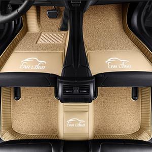 Esteiras do assoalho do carro personalizado caber Hyundai logotipo i30 ix25 35 Elantra SantaFe Sonata Solaris Sino Veloster newTucson ENCINO forros do tapete