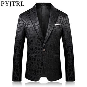 PYJTRL Trend Male Qualität Art und Weise beiläufige Jacquard Blazer Blazer Männer Veste Kostüm Homme