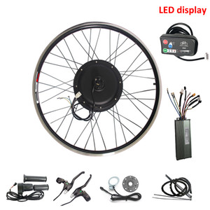 48V 500W Electric bicycle Ebike Conversion Kit with LED display Brushless Gearless Hub Motor Wheel Kit 20''-29''
