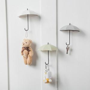 Plain bonito Umbrella Fixo Hooks 3 pacotes Nail-Livre porta atrás de porta-chaves Início Seamless gancho Umbrella gancho