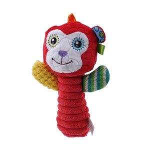 Hot colorés bébé en peluche à la main avec Secouer de Bell Sticks hochets Bibi Bâtons doux Poupée Cartoon animal enfants jouets 18 cm