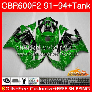 Kit For HONDA CBR 600F2 CBR600FS 600CC CBR600 F2 91 92 93 94 40HC.270 CBR 600 FS F2 CBR600F2 1991 1992 1993 1994 Fairing +Tank factory green