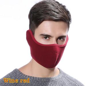 Adisputent 2 1 Unisex Ağız Kül Pamuk Earmuffs Maskeler Kış Moda Erkekler Kadınlar Açık Windproof Yarım Maske Isınma