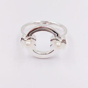 Joyería oso plata de ley 925 anillos de plata Super Power anillo con perlas adapta a la joyería europea del estilo de regalo C812405500