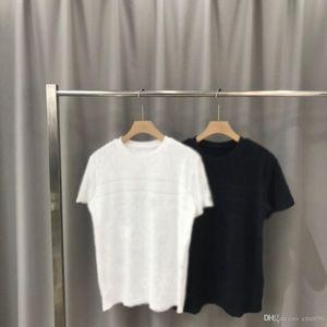 2020ss primavera y el nuevo algodón de alto grado del verano impresión de manga corta ronda panel de cuello de la camiseta Tamaño: M-L-XL-XXL-XXXL Color: negro blanco 10w77