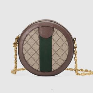 Handtaschen Portemonnaie Femme Wallet-Schulter-Beutel Art und Weise klassische Canvas-Qualitäts-Brief-Frauen-runder Kuchen Zipper-Kette Crossbody Beutel