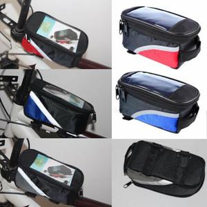 La bici di riciclaggio frontale Top Viaggi Pannier Telaio del sacchetto del tubo della cassa del sacchetto sella della bicicletta