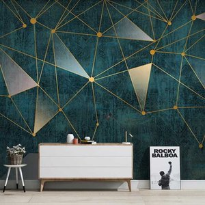 Custom 3D Photo Wallpaper Nordic Modern Geometric Lines Art Mural Luxury Living Room Sofa TV Background Wall Painting Home Decor