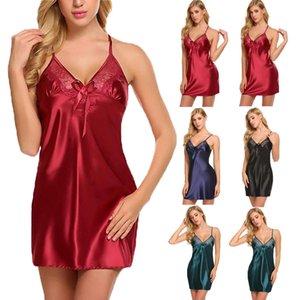 Lingerie Sexy Sleepwear Rendas Mulheres G-string Vestido de Lingerie Babydoll Nightwear # R76