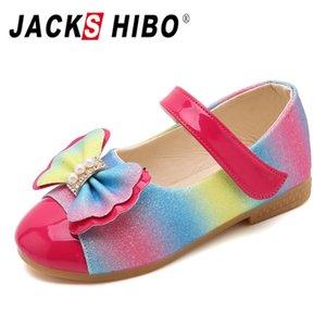 JACKSHIBO 2020 nueva primavera niños princesa zapatos niñas lentejuelas niñas boda fiesta niños vestido zapatos para sandalias escolares
