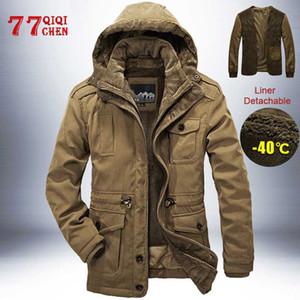 Winter Jacket Men 2 in 1 Liner Detachable Thick Warm Windbreaker Brand Mens Parkas High Quality Cashmere Coat Plus Size L-4XL