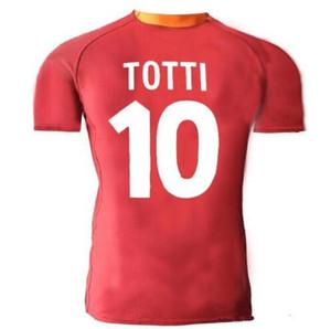 00/01 futbol forması 00 01 batistuta totti candela gömlek klasik hatıra koleksiyonu vintage roma kırmızı futbol gömlek 2000