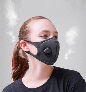Masques Valve respiration réutilisable Anti-allergique et le masque de poussière avec masques lavables éponge unisexe anti-poussière PM2,5 pollution moitié visage bouche