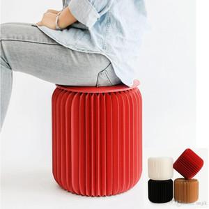 Paper stool fashion dining stool multifunctional folding home living room Bedroom spacesaving creative design furniture
