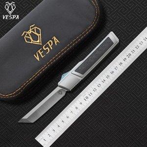 Alta qualidade VESPA Ripper faca dobrável Blade: M390 (Cetim) Handle: 7075Aluminum + CF, a sobrevivência de acampamento ao ar livre facas ferramentas EDC