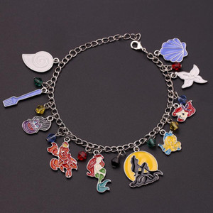 The little Mermaid Charm Bracelets For Women 2020 New Pendant Cute Shell Crown Bangles For Girl Birthdays Accessories Jewelry