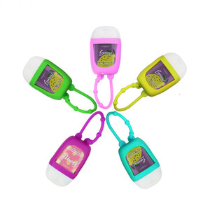 30ML سيليكون الخالي غطاء اليد زجاجات المطهر جولة نصف شكل شامبو السفر البسيطة زجاجة المحمولة لسائل التجميل