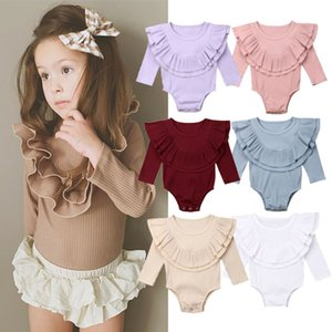 Baby Spring Autumn Clothing Newborn Baby Girl Boys Ribbed Solid Rompers Long Sleeve Jumpsuit Playsuit Outfit Clothes