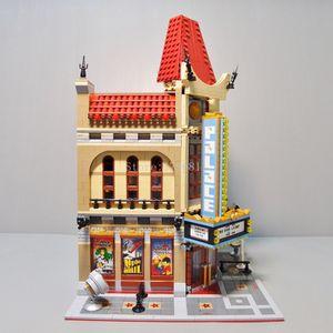 En stock 15006 Palais Cinéma Série City Building Blocs Bricks Toys éducatifs Compatible 10232 Classic House Architecture Toy jouet