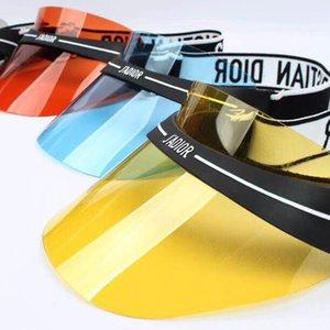 Moda oval de gafas de sol gorras sombrero mujeres y hombres diseño de protección contra los rayos UV Marca de la lente de Verano de Split capa de espejo de la lente de gafas de sol con la caja original