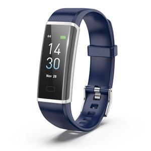شاشة ملونة ID115Plus سوار ذكي الاسورة القلب رصد معدل اللياقة البدنية تعقب وسائل الاعلام الاجتماعية رسالة تذكير ووتش
