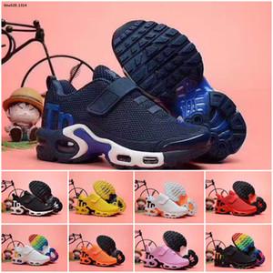 Nike Mercurial Air Max Plus Tn Os miúdos mais tn menino sapato menina Para as crianças de alta qualidade clássica pai-filho atlético ao ar livre mix de tênis preto sapatos casuais